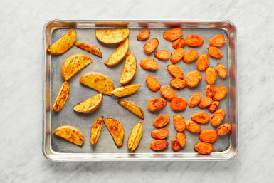 Roast Carrots & Potatoes