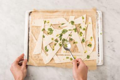 Bake the chapati strips