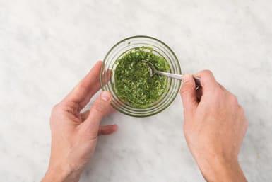Make the coriander oil