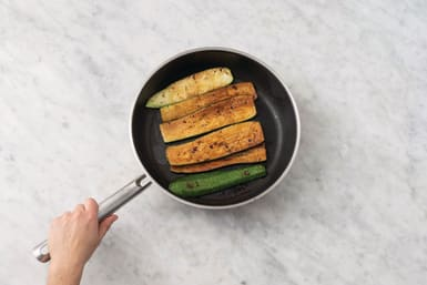 BBQ the zucchini & flatbreads