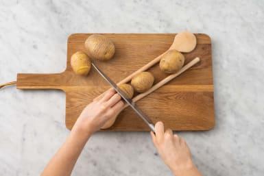 Förbered potatis
