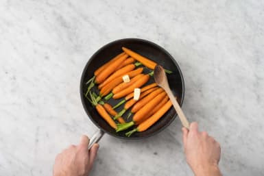 Cuire les carottes glacées