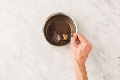 Make the sweet chilli glaze