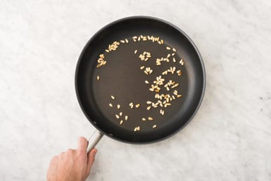 toast the pine nuts