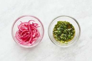Pickle Onion & Make Chimichurri