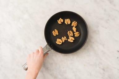 Toast the walnuts