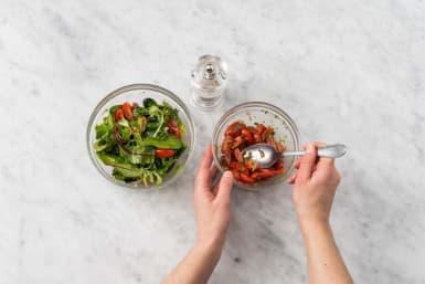 Make salad and salsa