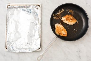 Pan-fry chicken