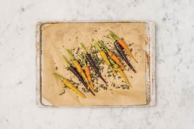 Add the thyme & pumpkin seeds