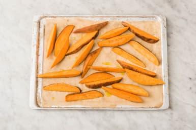 Bake sweet potatoes
