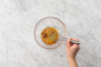 Prep and make vinaigrette