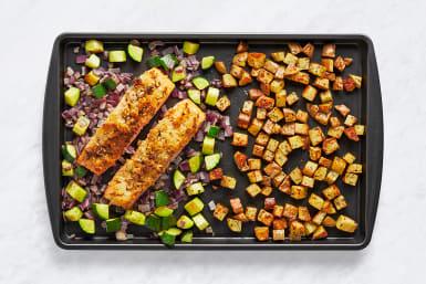 Roast Veggies & Salmon