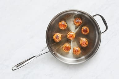 Cook Meatballs & Kale