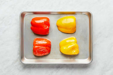 Roast Peppers & Finish Prep