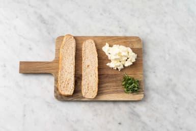 Broodje voorbereiden