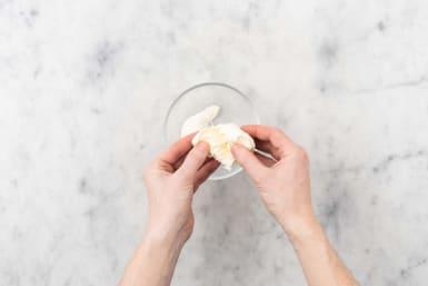 Mozzarella portionieren
