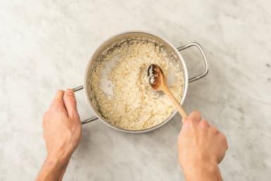 Cook garlic-ginger rice