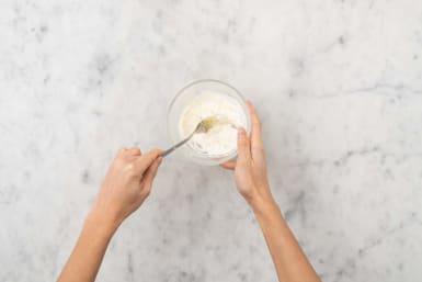 Make lemon-garlic toum