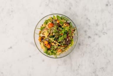 Salade afmaken