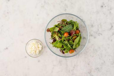 Salade voorbereiden