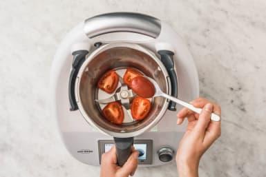 Tomatendip zubereiten