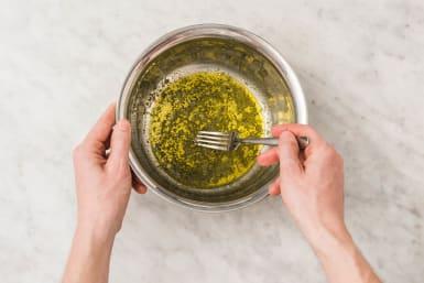 Spinatsalat zubereiten