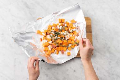 Prep sweet potatoes