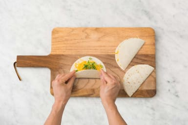 Assemble quesadilla