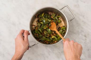 Prep and cook veggies