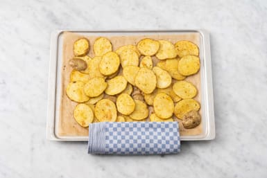 Roast potatoes rounds