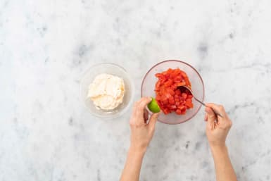 Salsa en dip maken