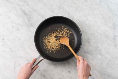 Toast sesame seeds