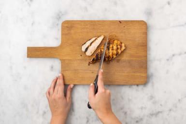 Cut chicken