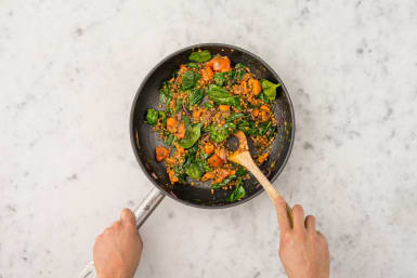 Gemüselinsen vollenden