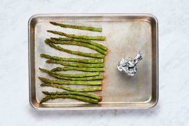 Roast Garlic & Asparagus
