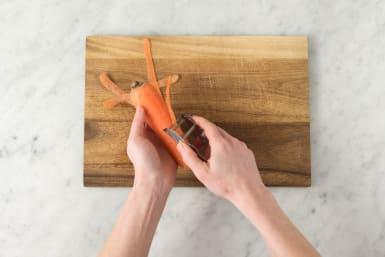 Karotten backen