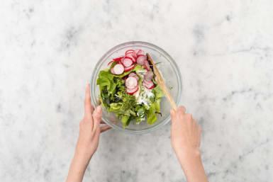 Salat vorbereiten