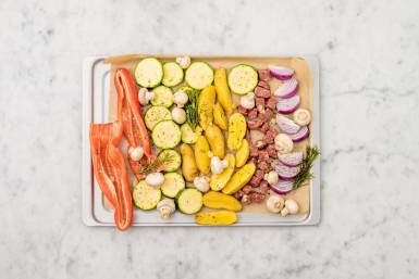 Für das Antipasti-Gemüse