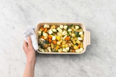 Tillsätt zucchini