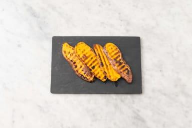 Grill sweet potatoes