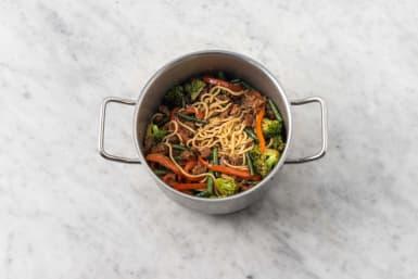 Assemble Cantonese-style noodles