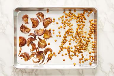 Roast Onion & Chickpeas