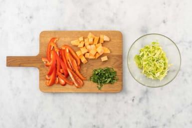 Prep and marinate cabagge