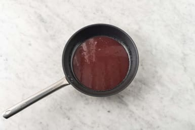 Make double berry sauce