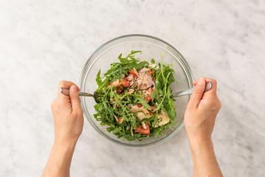 Make bruschetta salad