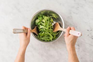 Bakken en salade maken