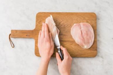 Hähnchen & Gemüse vorbereiten