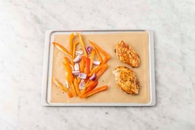 Bag kylling & grøntsager