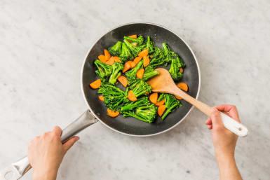Steg grøntsager