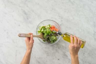 Förbered sallad